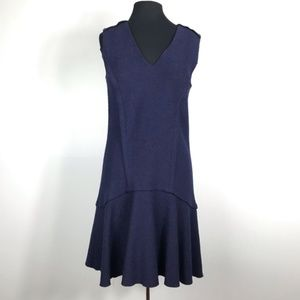 Ann Taylor Navy Blue Drop Waist Dress Size 8